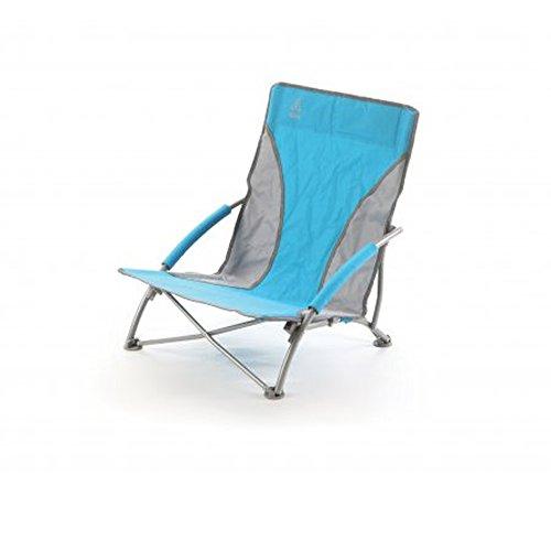 Q.bo spiaggina pieghevole ad ombrello con braccioli 64x55xh62cm alassio azzurro 05201