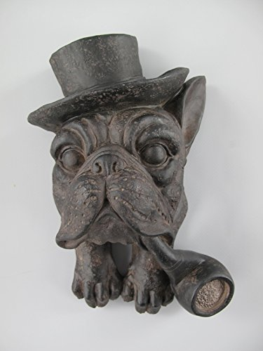 *WH* Hund(Wandfigur ) Polystein farbe H.26x16cm