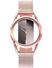 Viceroy Reloj Analógico para Mujer de Cuarzo con Correa en Acero Inoxidable 42334-47