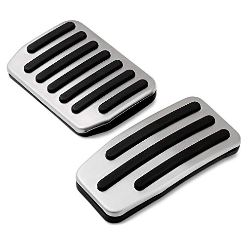 OPSLEA Voiture P/édales De Frein Antid/érapantes Acc/él/érateur en Aluminium Couverture De P/édale De Frein Manuel Auto