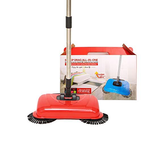 Kitchnexus Kehrbesen Kehrmaschine Haushalts Reinigung Hand Push Automatische Sweeper Besen- Reiniger Ohne Strom Umweltfreundliche (Farbe: Zufällig)