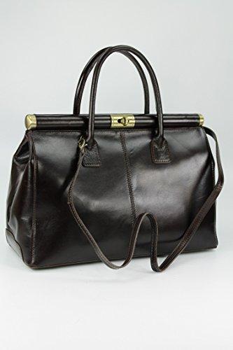 "Belli® ""The Bag XXL italiana. Premium Borsa in pelle borsa–�?8x 26x 18cm (B x H x T) Marrone"