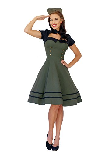 Pin Up Uniform Retro rockabilly Bolero SWING Kleid Petticoatkleid ()