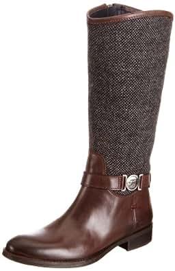 Tommy Hilfiger Women's Hamilton 3 C Dark Brown/Tweed Mid Calf Boots FW56814726 3.5 UK, 36 EU