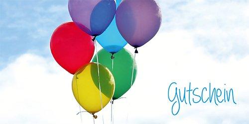 50 Gutscheine Gutscheinkarten Geschenkgutscheine – edel neutral Luftballon