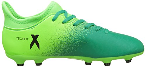 adidas X 16.3 Fg J, Chaussures de Foot Garçon vert - noir (Solar green-Core black)