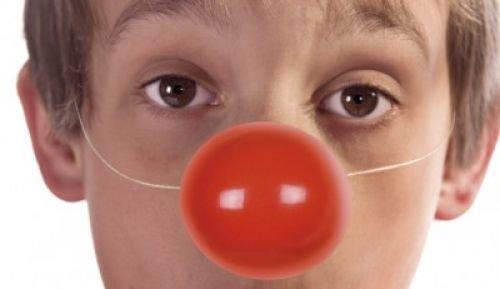 6 x Clown Nasen rot, Red Nose, mit Gummizug, Kostüm (41029) (Red X Kostüm Kinder)