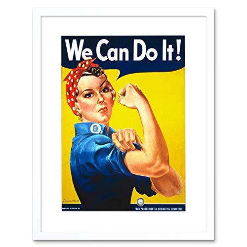 Wee Blue Coo War Second World We Can DO IT Women Lámina