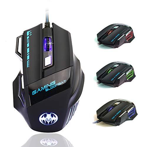 Ratón Gaming - iAmotus Ratón Gaming Óptico[6800 DPI Ajustable] Ratón Gamer...