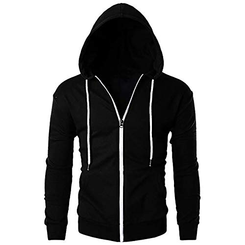 FRAUIT Herren Sweatshirt Kapuzenpullover Langarmshirt Pullover Sweats Warm Atmungsaktiv Bequem Jacke Sweatjacke Kapuzenjacke Top Outwear Bluse 100% Baumwolle