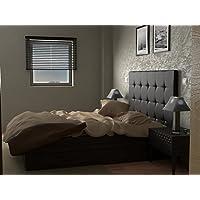 LA WEB DEL COLCHON Cabecero de cama tapizado acolchado Corfú (Cama 135) 145 x