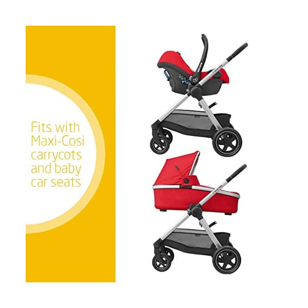 Maxi-Cosi Adorra Baby Pushchair, Comfortable and Lightweight Stroller with Huge Shopping Basket, Suitable from Birth, 0 Months - 3.5 Years, 0-15 kg, Nomad Red Maxi-Cosi Urban stroller, suitable from birth to 15 kg (birth to 3.5 years) Cocooning Seat: The luxury of a large padded seat for the extra comfort of your little one A lightweight stroller less than 12 kg that makes walking effortless 2