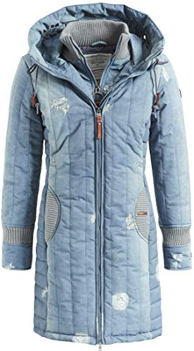 khujo Jerry Prime 2 1128JK183 Damen Winterjacke, HR4 Denim Print, L