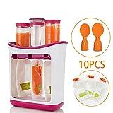 Squeeze Station Macchina per alimenti per bambini, lavabile in lavastoviglie Kit di alimentazione facile da usare con 10 sacchetti e due cucchiai, per alimenti fatti in casa con succo di frutta fresca