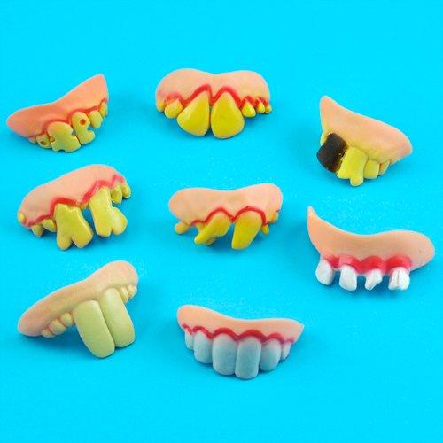 SODIAL (R) Lustige gefaelschte Zaehne Zahnersatz Geeignet fuer Kostuem (Kostüme Zahnersatz)