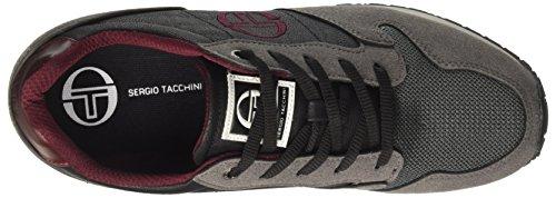 Sergio Tacchini Reims 2.0 MX, Sneaker a Collo Basso Uomo Grigio (Shark/Black)