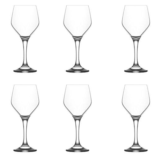 LAV Ella Kleine Wein Brille-260ml-Pack von 6Stielgläser Kelche für rot Wein weiß Wein