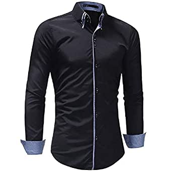 UD FABRIC Black Casual Cotton Shirt