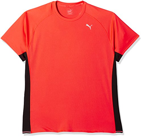 Puma Uomo PE Running S/S TEE T-Shirt rosso  - Red Blast