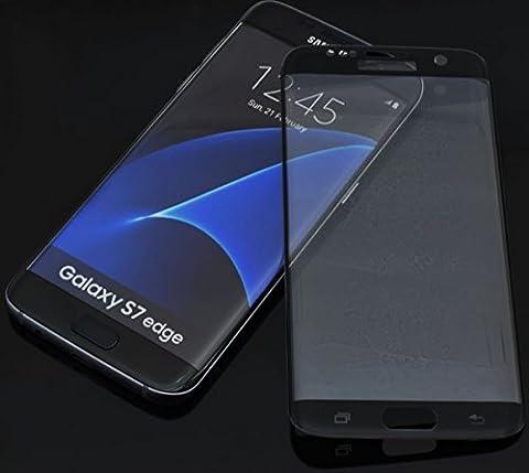 Samsung Galaxy S7 Edge - CURVED 3D Hartglas Panzerglas Full Cover Echt Glas 9H Schutzglas Displayschutz Folie
