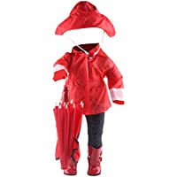 STOBOK Doll vestidor Ropa Impermeable Atuendo Traje Traje Rainwear Kit muñeca Accesorios para 18inch American Girl Dolls