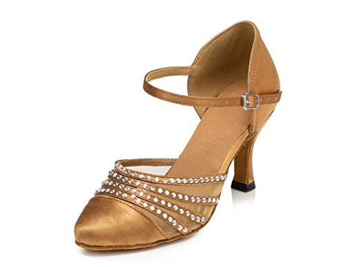 JSHOE Femmes Sequins Round Toe Chaussures De Danse Latine Salsa / Tango / Chacha / Samba / Moderne / Jazz Chaussures Sandales Talons Hauts