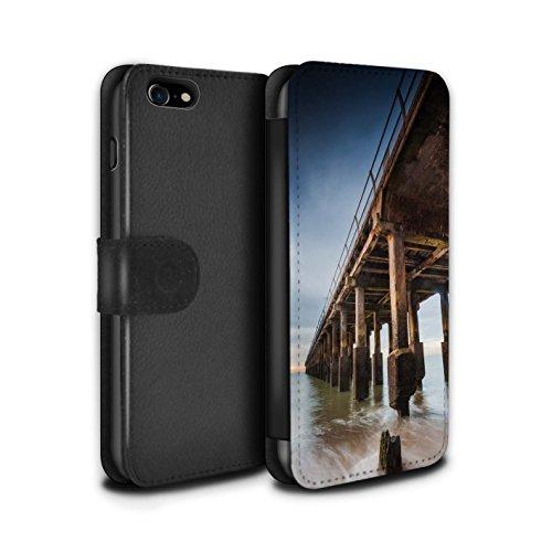 Stuff4 Coque/Etui/Housse Cuir PU Case/Cover pour Apple iPhone 8 / Point De Vue Jetée Design / Bord Mer Anglaise Collection Structure Jetée