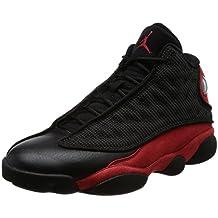 innovative design 29cba f8928 NIKE Herren Air Jordan 13 Retro GS Schuhe aus Stoff und Leder in rot und  schwarz