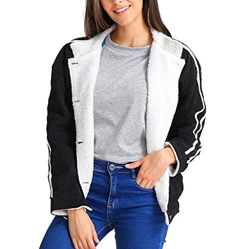 xinhia7682 Damen Kurz Jacke Jacket Lederjacke Damenjacke Bikerjacke Pilotenjacke Frauen Retro Rivet Reißverschluss Oben Bomberjacke Cool...