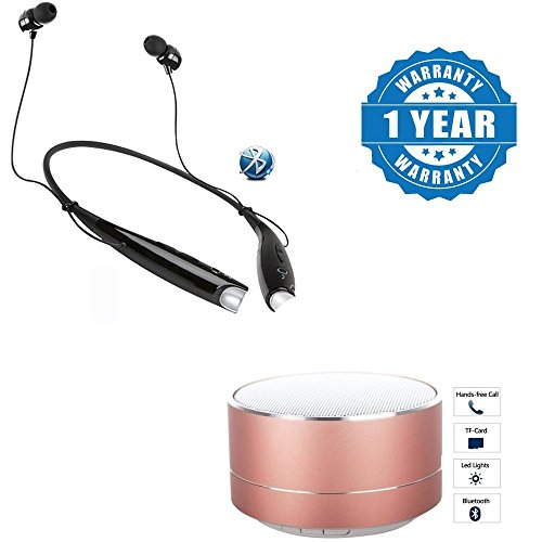 Captcha HBS730 Bluetooth Wireless Stereo Headset Amazing Sound With P10 Wireless Portable Bluetooth Speaker with Mic Compatible With IOS / Smartphones