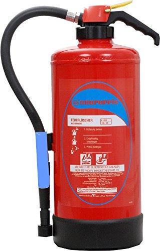 Wassernebellöscher 6L Neuruppin Aufladelöscher W6 WNA FLN - AF auch Fettbrände mit Telesto - Technologie und Instandhaltungsnachweis von Feuerlöscher-Tauschsystem