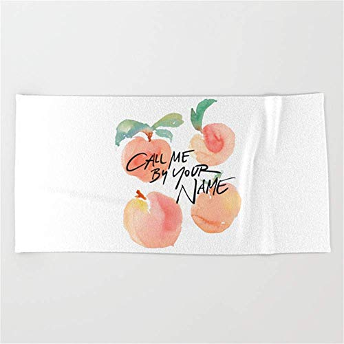 rongxincailiaoke Call Me by Your Name - Peaches Beach Towel 31x51 Inches