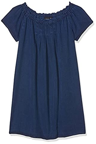 NAME IT Mädchen Kleid Nitalva S/S Dnm Dress Lmtd Blau (Dark Blue Denim Dark Blue Denim), 152