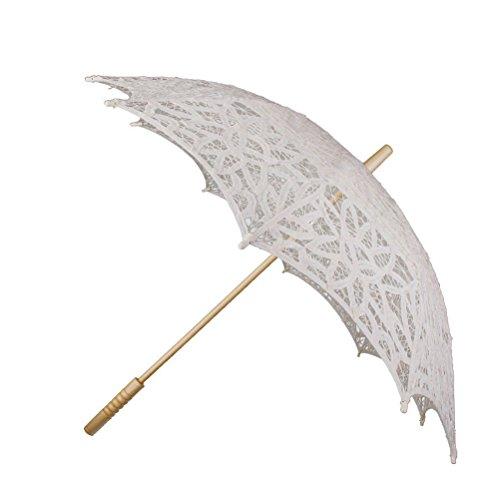 Pixnor Regenschirm Hochzeit nuptiale gieren Baumwolle (beige)