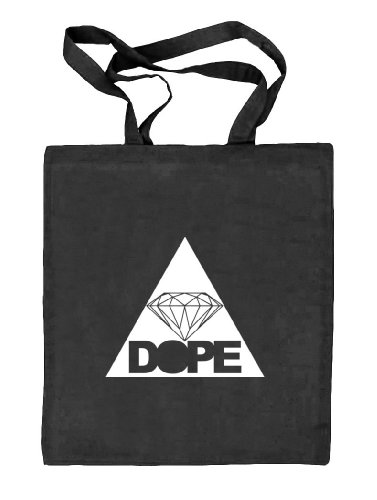 Shirtstreet24, DOPE TRIANGLE, Dreieck Diamant Diamond Stoffbeutel Jute Tasche (ONE SIZE), Größe: onesize,schwarz natur