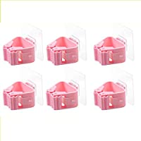 ACDGS Taihang 6 hanging mop hooks bathroom free punching mop broom racks a multi-hanging bathroom strong nail-free clips environmentally friendly and durable (Color : Pink)