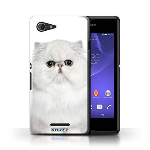 Kobalt® Imprimé Etui / Coque pour Sony Xperia E3 / Siamois conception / Série Espèces de chats Persan Blanc