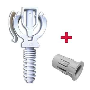 RAM - Pose et fixation tube multicouche - 100 CLIPEO Simple BLANC Ø16 +100 BAGCLIP