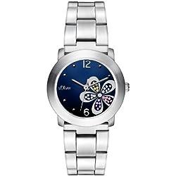 s.Oliver Damen-Armbanduhr Casual XS Analog Quarz Edelstahl SO-2479-MQ