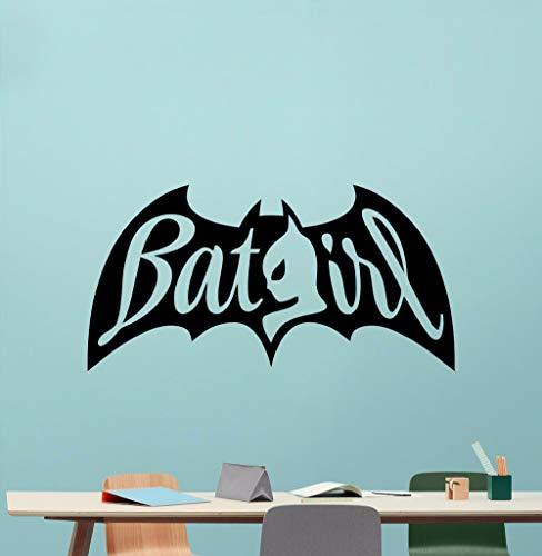 ndtattoo Abnehmbare Hero Vinyl Wandaufkleber Home Kinderzimmer Dekor Batgirl Design Movie Poster Wandbild112x57 cm ()