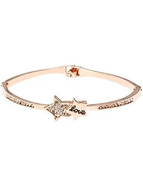 City Ouna® Swarovski Elemente gelb Gold vergoldet Charme glänzende Sterne Liebe Form mit Diamond Crystal Freundschaft...