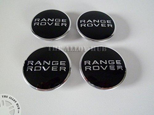 range-rover-black-chrome-alloy-wheel-centre-caps-x4-l322-vogue-evoque-sport-l405-l494