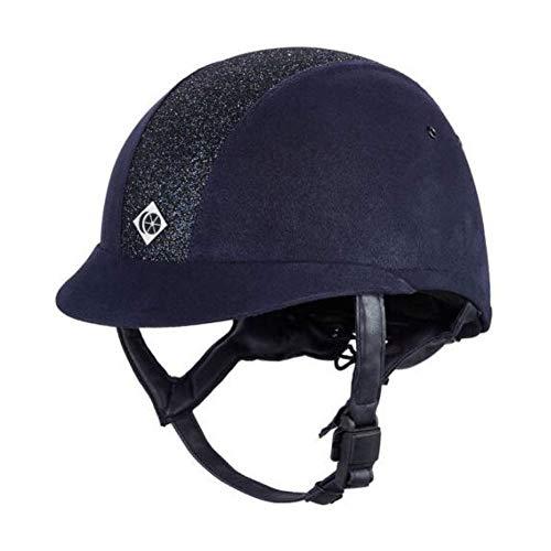Charles Owen eLumen8 Round Fit Riding Hat 59cm Navy Sparkly