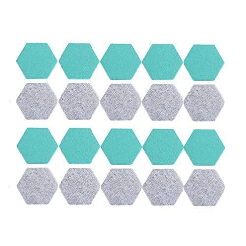SUPVOX Diy Hexagon Felt Wall Board Fliesen Wollfilz Memo Board Wanddekoration Aufkleber Note Board für Wanddekor Fotos Memos Display 20 Stücke