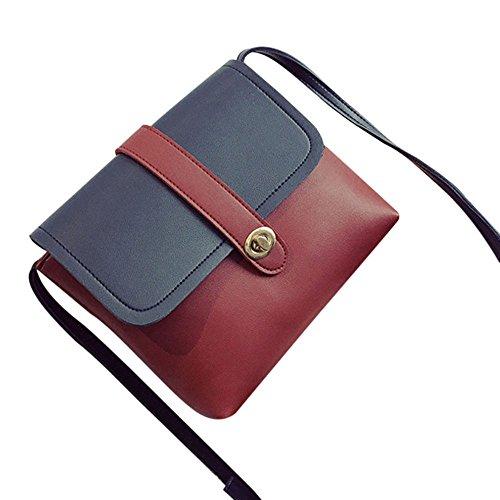 Longra Donna Tutto-fiammifero Hit colore Piccolo pacchetto Rosso