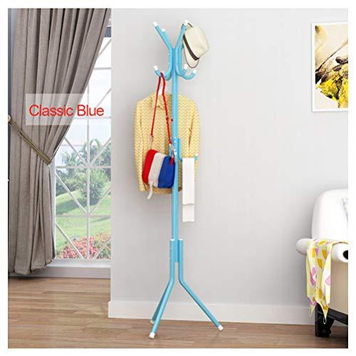 rablage mit Haken Eingangsbereich Floor Standing Kleiderbügel Baumständer Heimdeko für Wohnzimmer Schlafzimmer,Blue ()