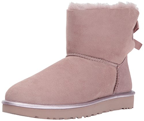 UGG Australia Mini Bailey Bow II Metallic Donna Stivali Rosa