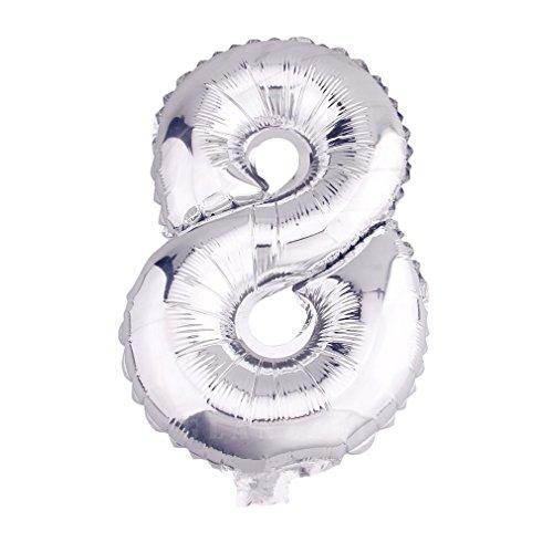 r Luftballons Buchstaben A zu Z Zahlen 0 zu 9 Geburtstag Hochzeit Jubiläum Babyparty Deko Ballons (8) ()