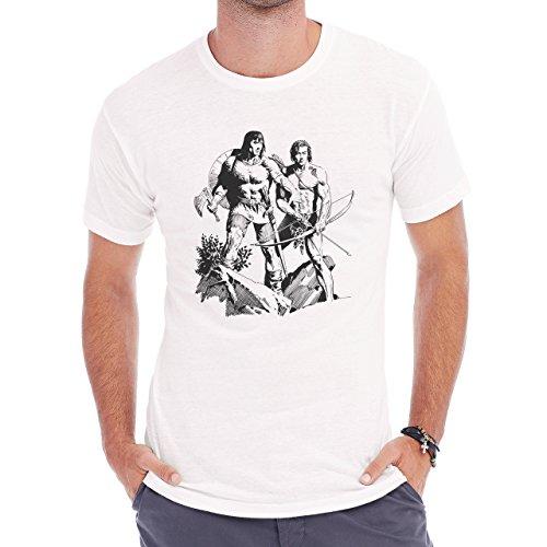 Tom Yeates Conan Tarzan Herren T-Shirt Weiß