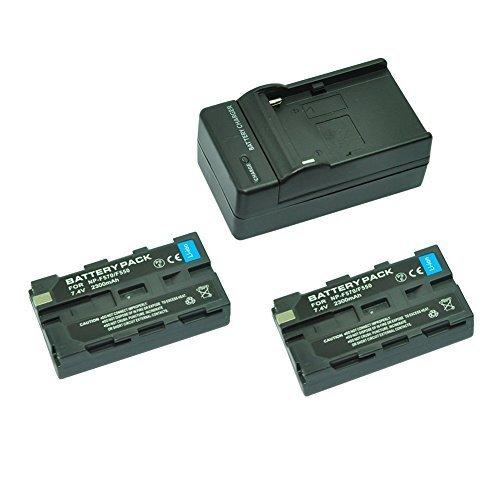 MP power @ 2X Reemplazo Li-ion batería NP-F550 NP-F570 NP-F330 NP-F530 2300mah 7,2V + cargador para Sony CCD-RV100, CCD-RV200, CCD-SC5,...
